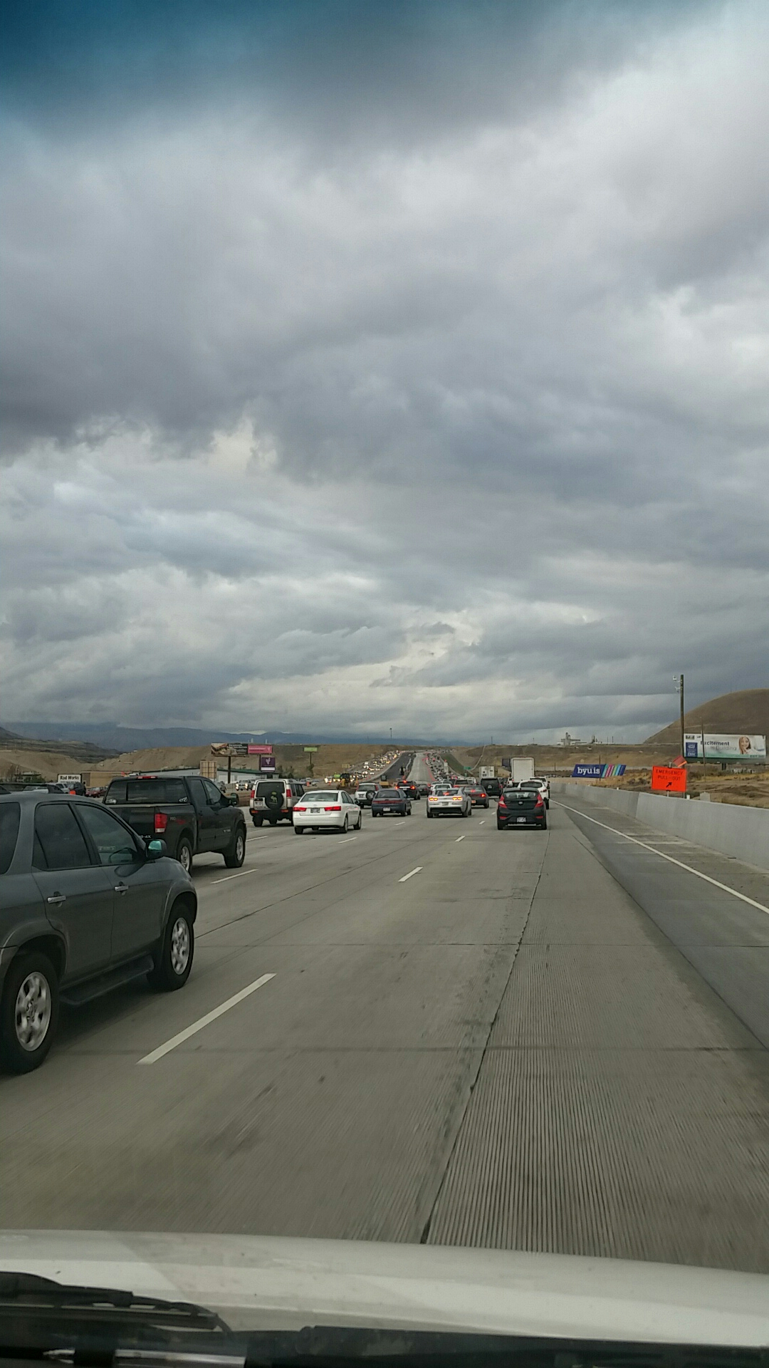 Lehi, UT - Heading north bound trying to mitigate the world and here we are stuck in traffic...