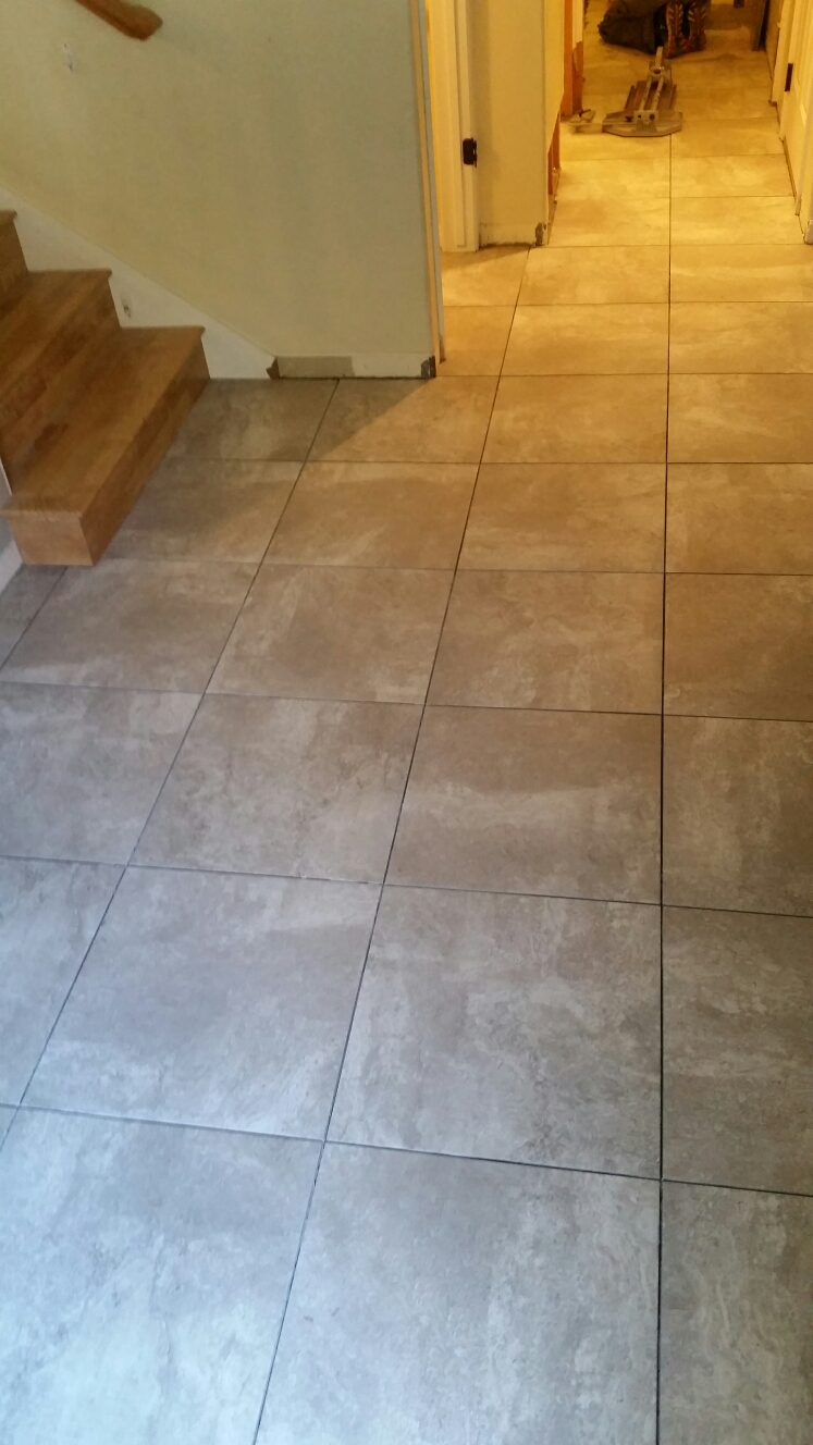 Draper, UT - Tile is turning out pretty sweet, the home owners are looking forward to getting their home put back together, nice to see things come together so nicely!