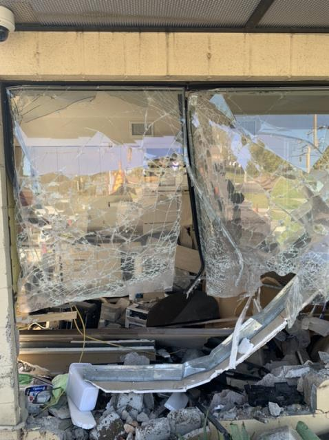 Riverside, CA - Water Mitigation and Repair after car destroyed office building.