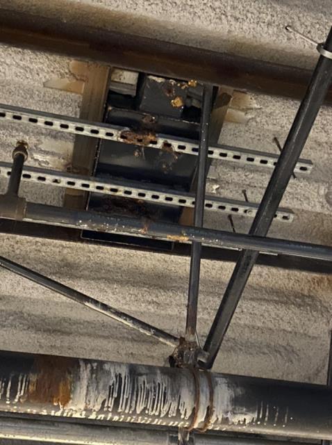 Pasadena, CA - Leaking grease trap caused damage to restaurant internally and parking garage below.