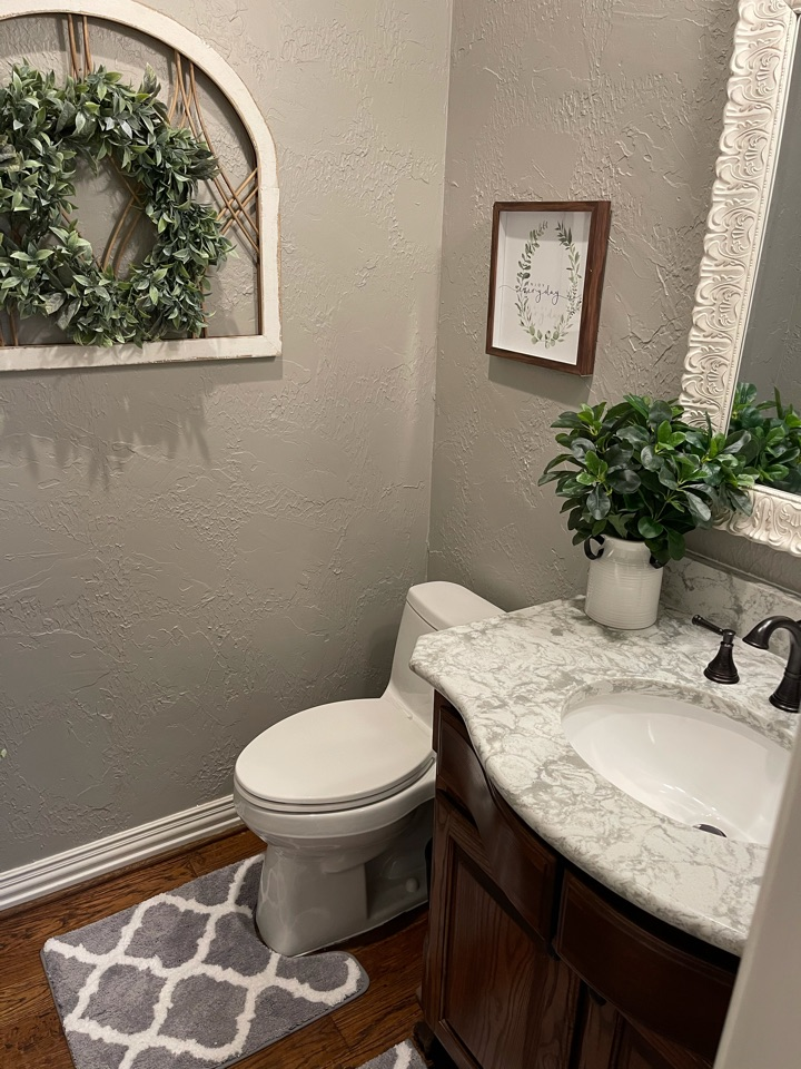 Prosper, TX - Just completed a beautiful master bathroom and powder bathroom!