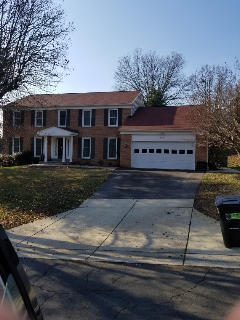 North Potomac, MD - Tyle red roof.  Completed December 2018 in North Potomac Maryland