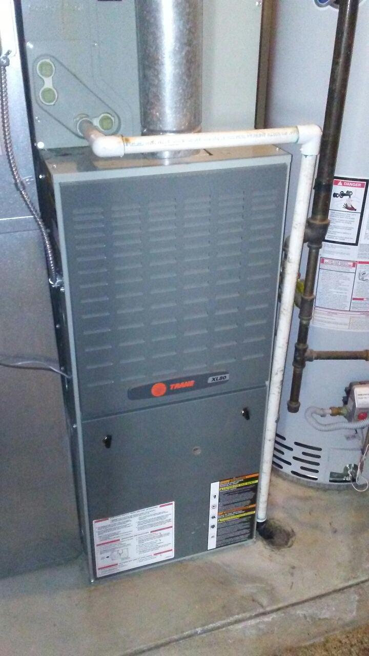 Arvada, CO - Furnace AC tune up cleanings on a 1 year old Trane 80% system
