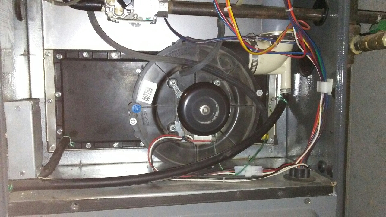 Westminster, CO - Replaced leaking condensate collector box on high effencity Amana furnace.