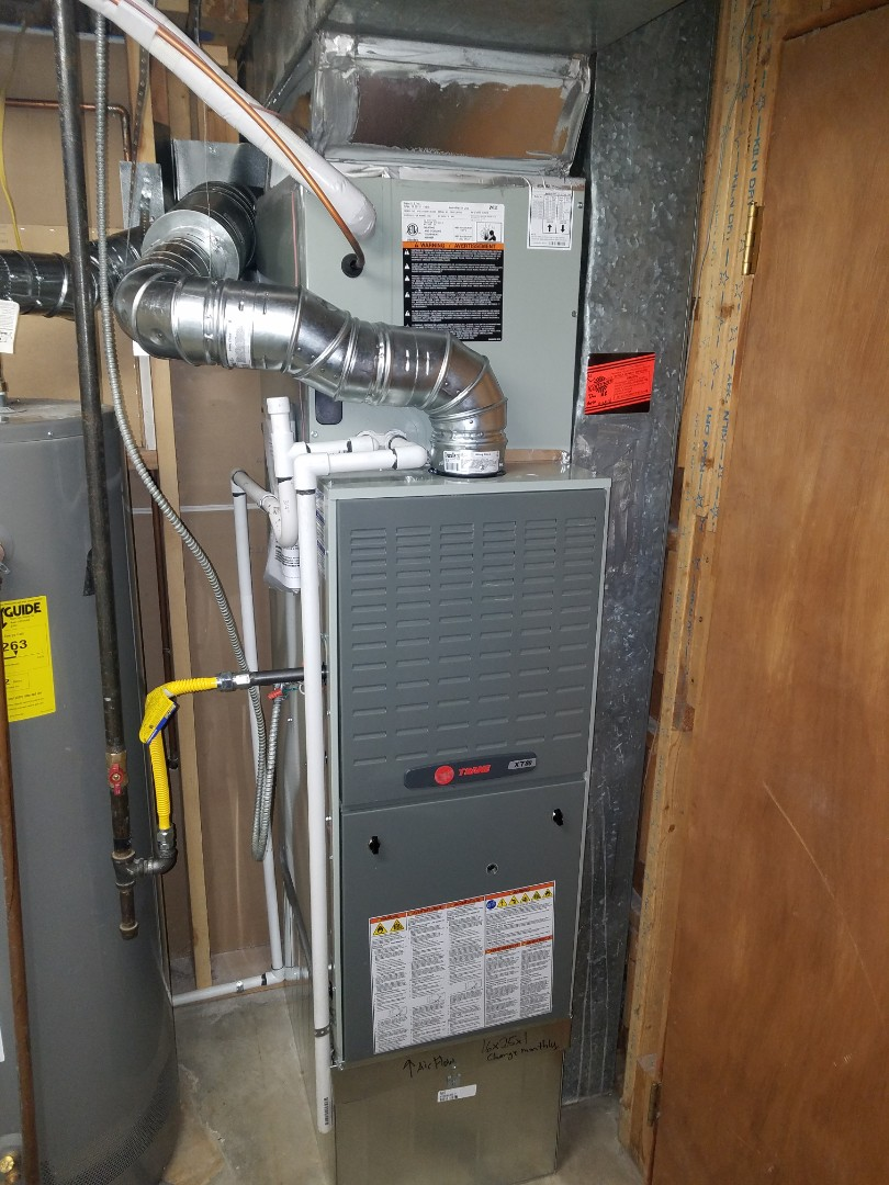 Thornton, CO - Installed new Trane Furnace & Air Conditioning system
