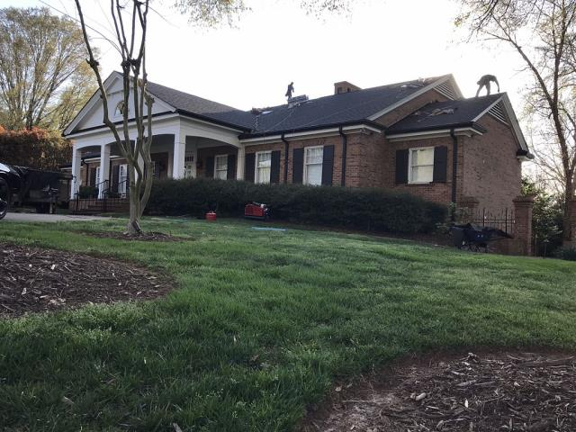 Mooresville, NC - Finishing up a recent roof replacement.