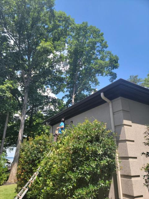 Cornelius, NC - Finishing up a roof repair with a little painting.