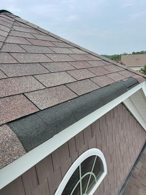 Concord, NC - We replaced missing and torn shingles for a repair in Concord yesterday.
