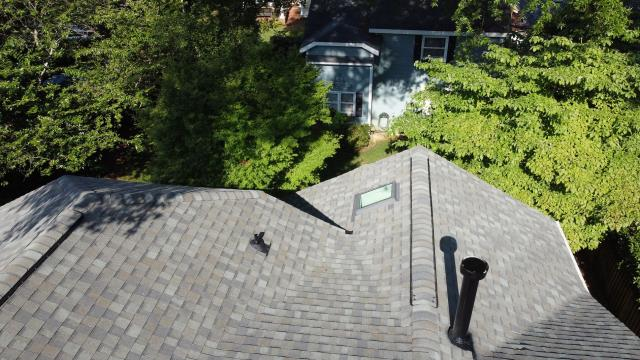 Charlotte, NC - Brand new roof and skylights replaced with Certainteed shingles and Velux skylights due to hail damage.
