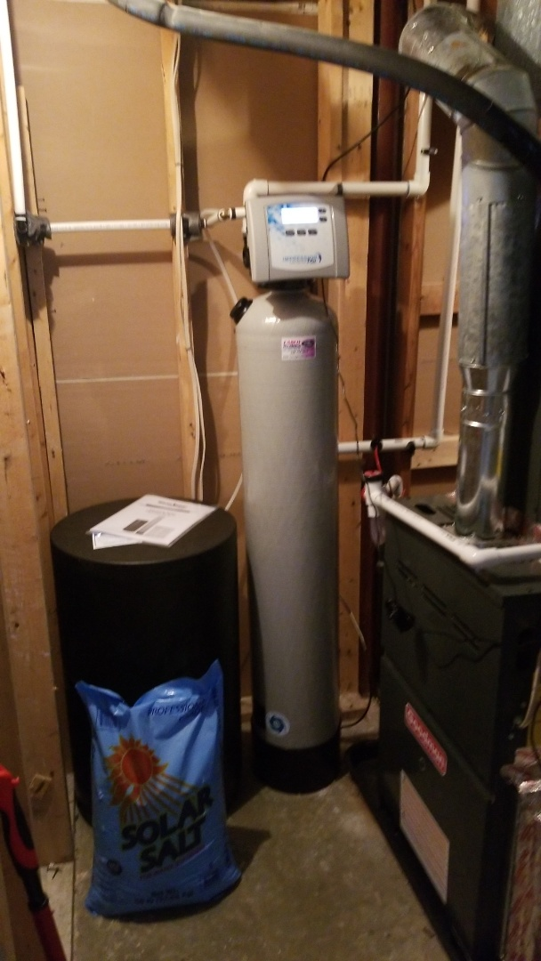 Installing a new water softener, sump pump, and a water heater. Winchester, Va.