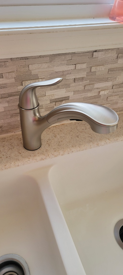 Installing customer provided kitchen faucet in Capon Bridge West Virginia
