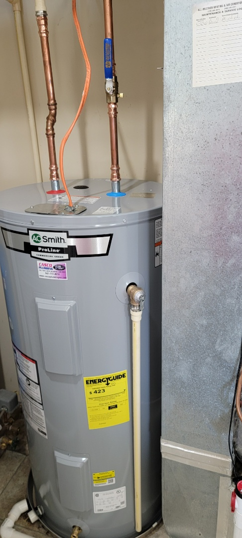 Installing 50 gallon electric water heater in Capon Bridge West Virginia