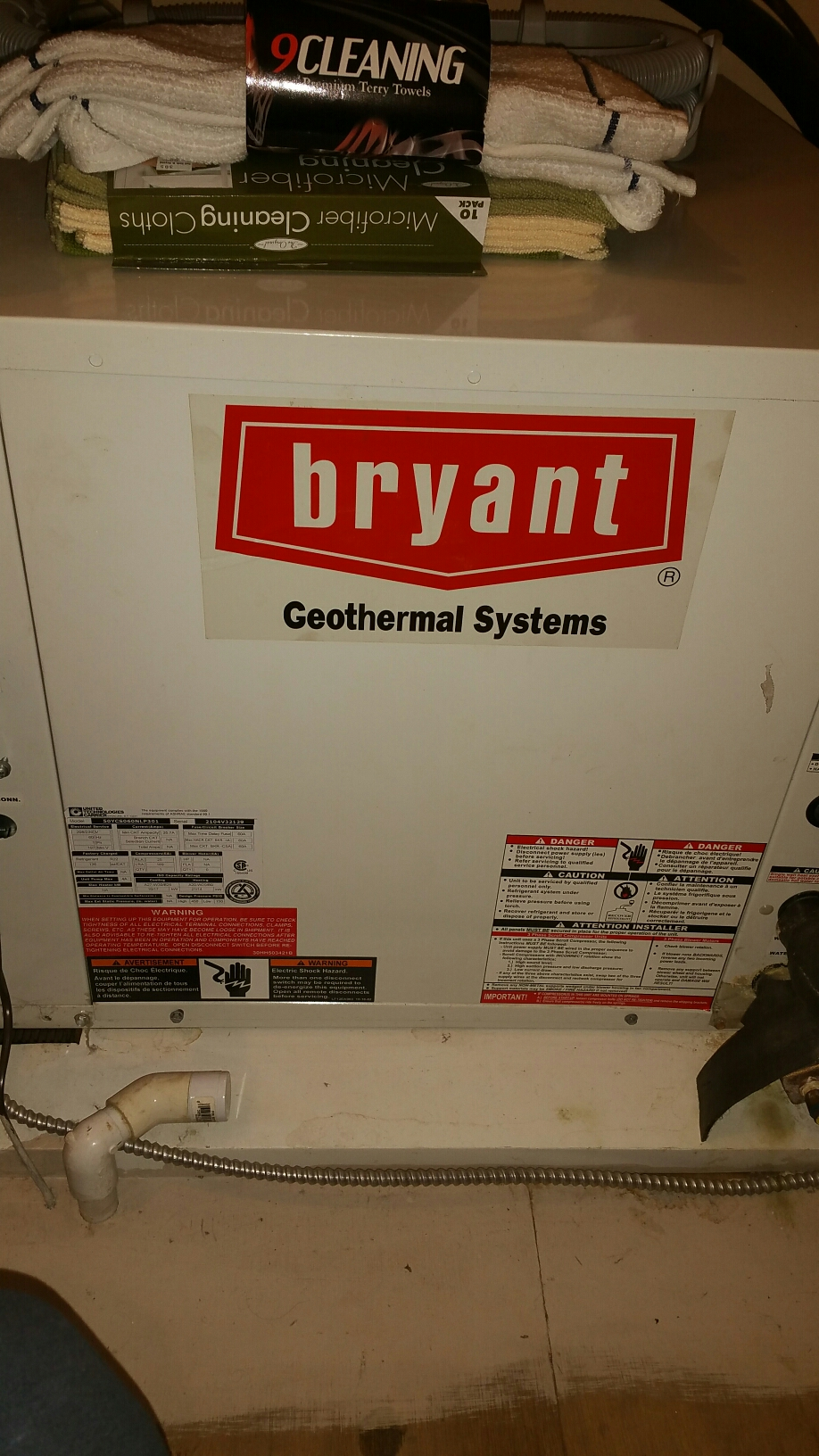 Ossian, IN - Annual maintenance on Bryant split system geothermal