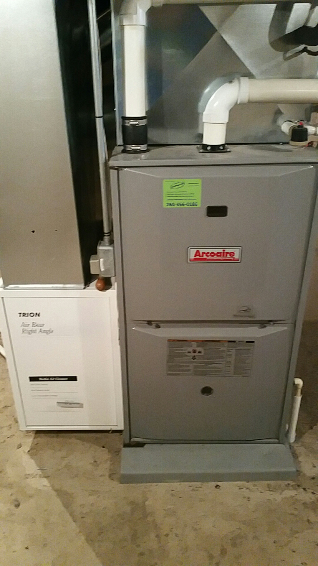 Columbia City, IN - Maintenance on Arcoaire gas furnace.