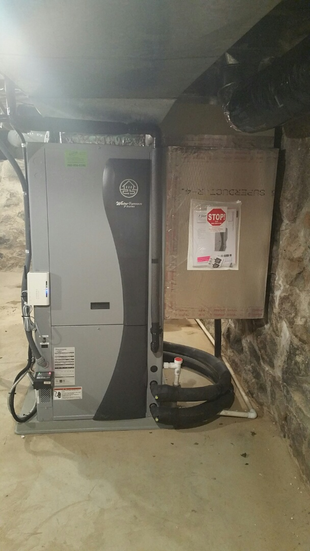 North Manchester, IN - Install waterfurnace 7 series variable speed geothermal closed loop dehumidifier air scrubber