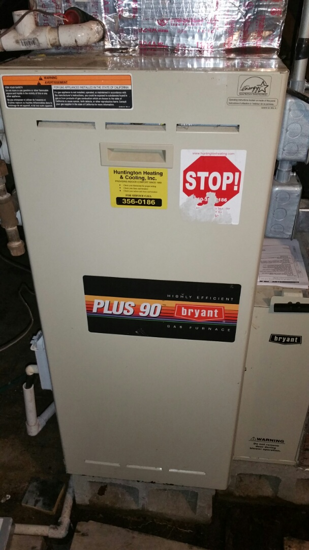 South Whitley, IN - Fall maintenance on Bryant propane gas furnace.