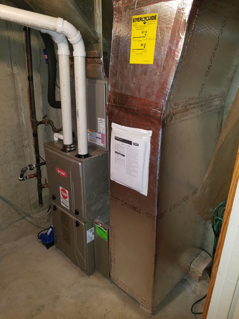 Plymouth, IN - Install Bryant modulating natural gas furnace and modulating air conditioner