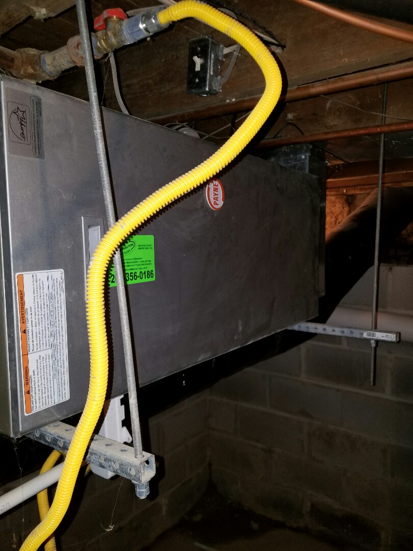 Roanoke, IN - No heat service call Payne natural gas furnace.