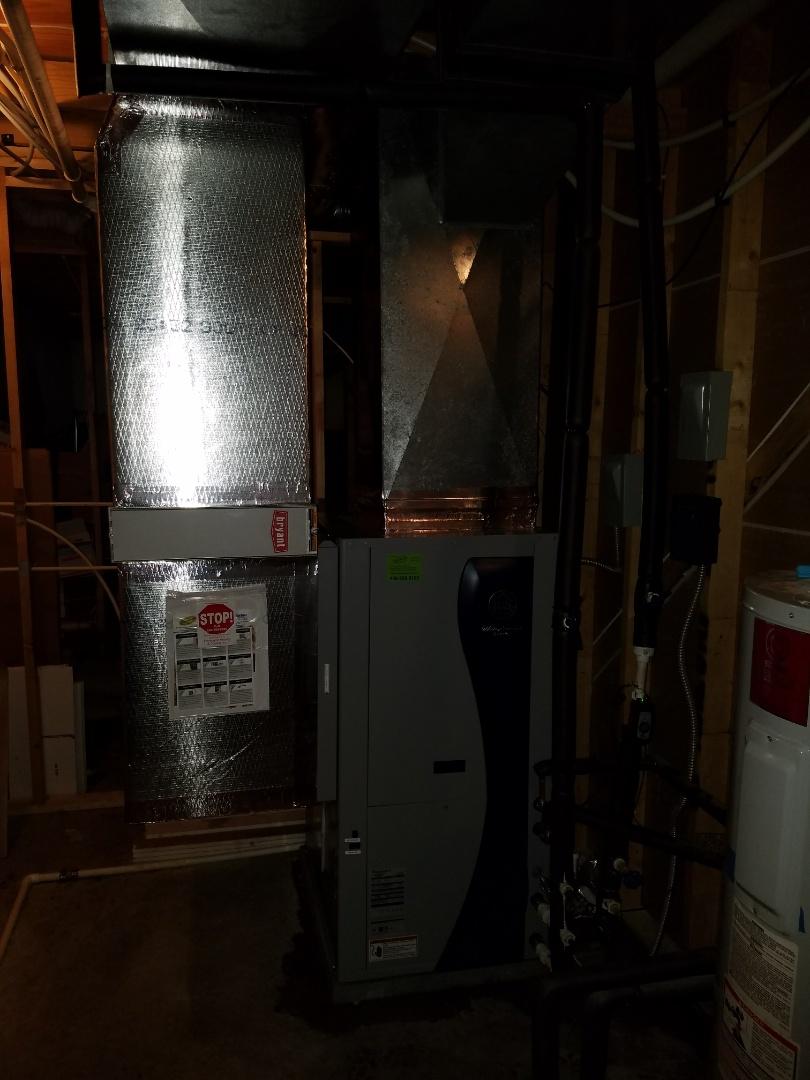 Urbana, IN - Replace carrier open loop geothermal with new waterfurnace open loop geothermal