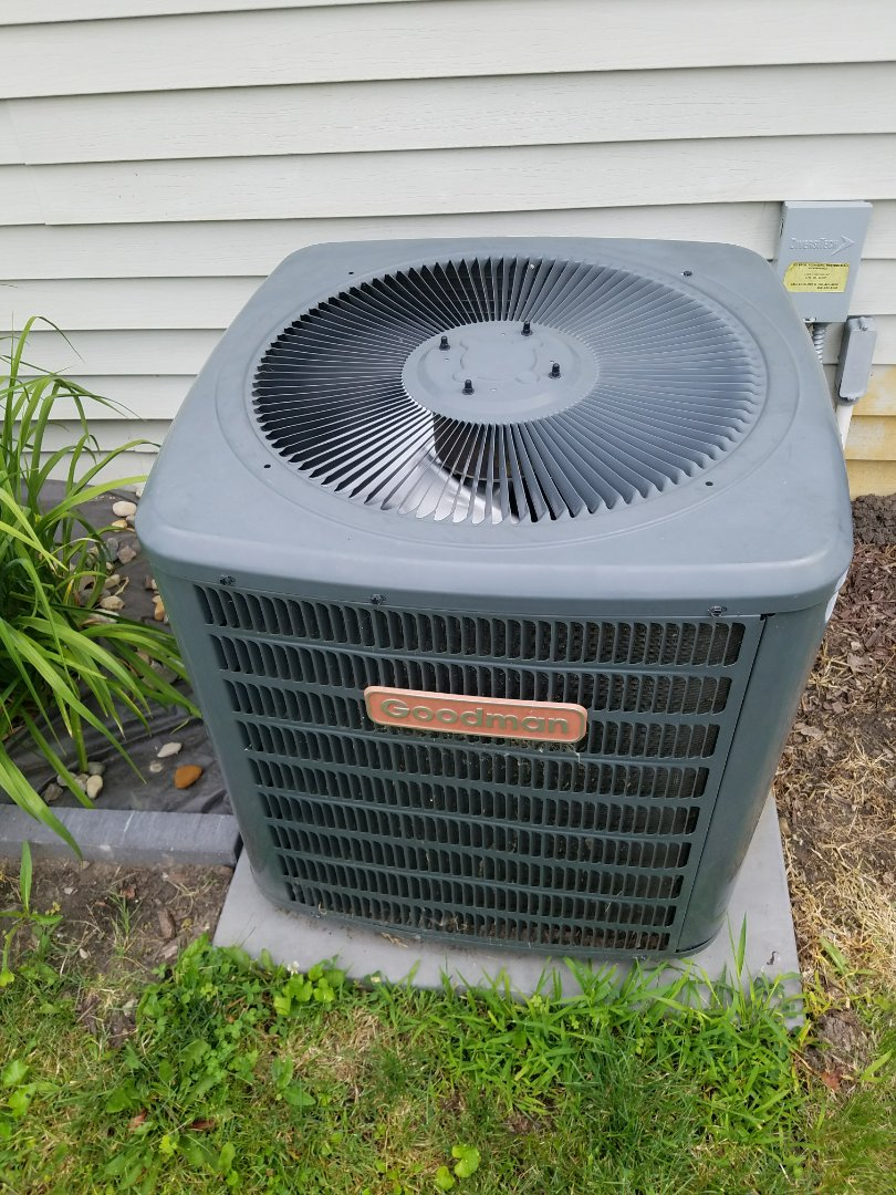 Columbia City, IN - Annual maintenance on Goodman air conditioner.