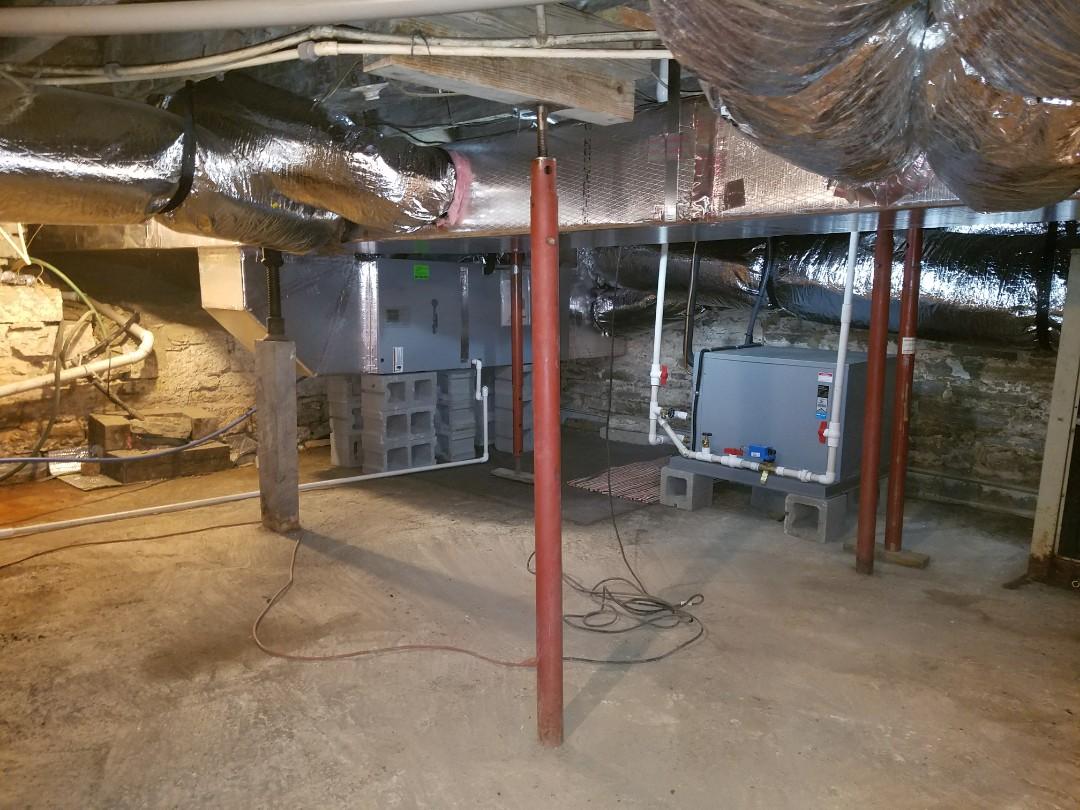 Wabash, IN - Install waterfurnace geothermal open loop split system