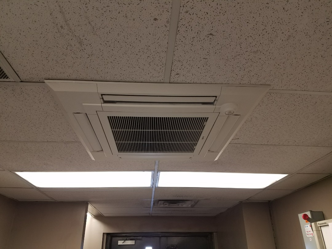 Wabash, IN - Install Mitsubishi ductless system ceiling casset