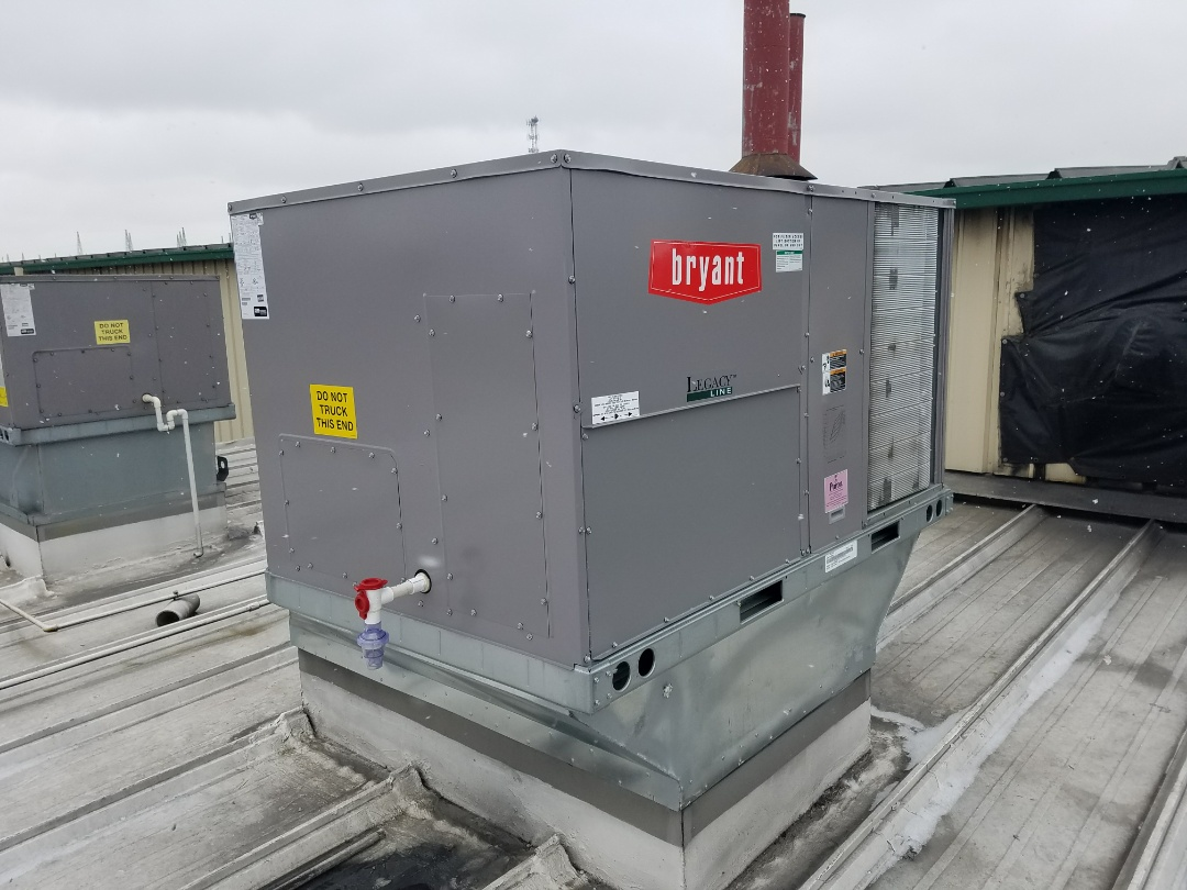 Wabash, IN - Install Bryant roof top unit