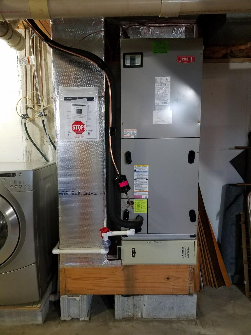 Huntington, IN - Install Bryant evolution extreme heat pump