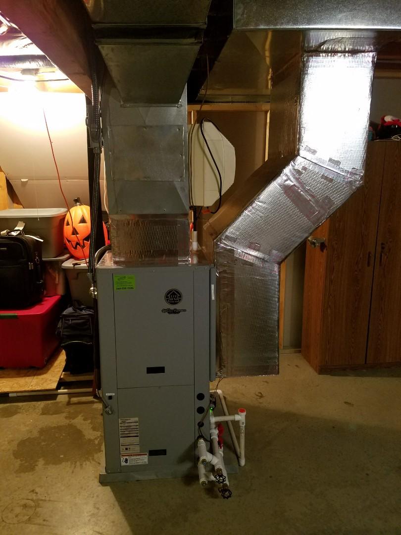 Roanoke, IN - Install waterfurnace open loop geothermal