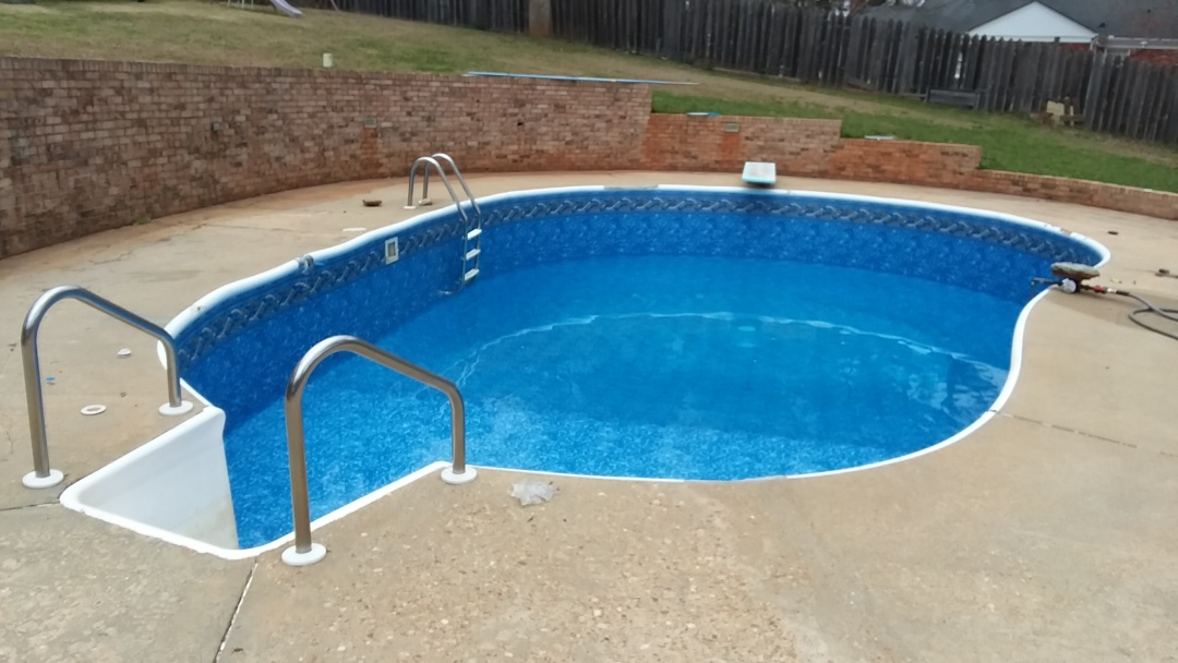 New pool construction and liner replacement.