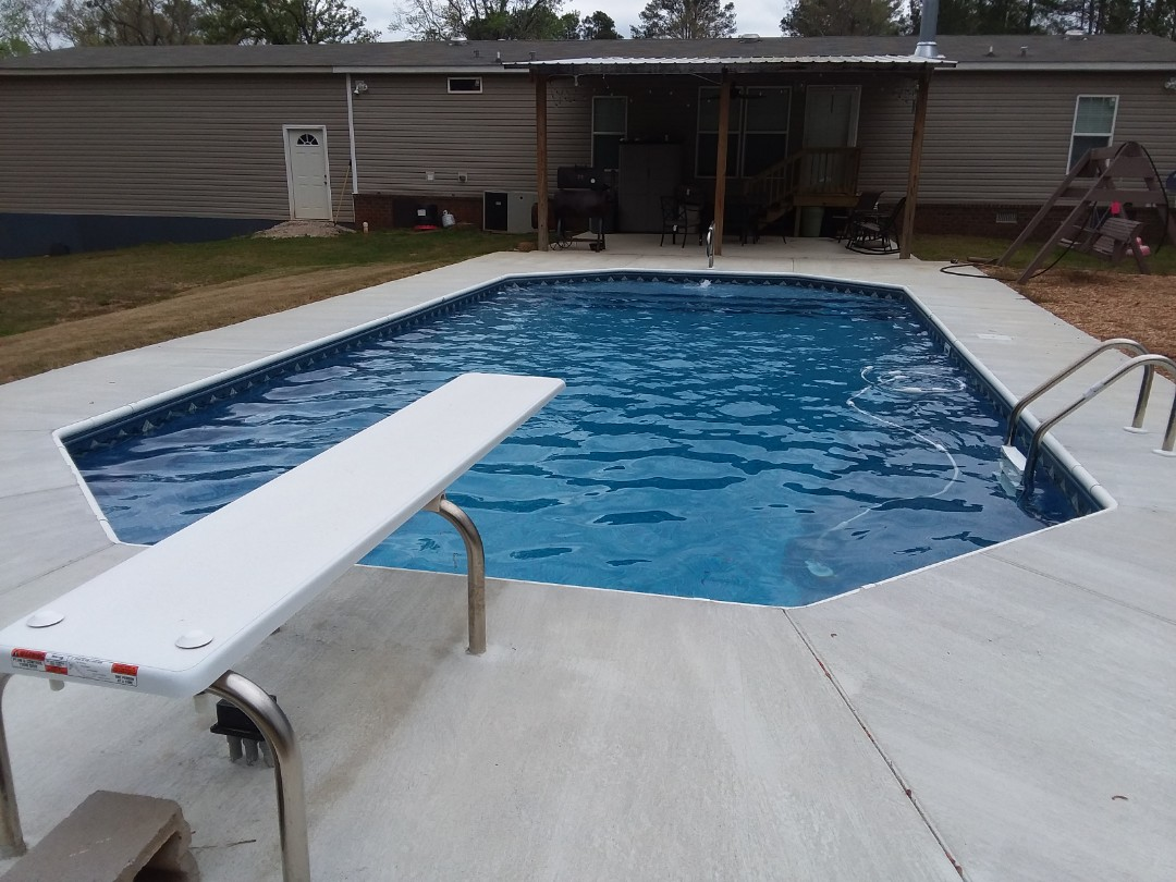 Montgomery, AL - New swimming pool construction and liner replacements.
