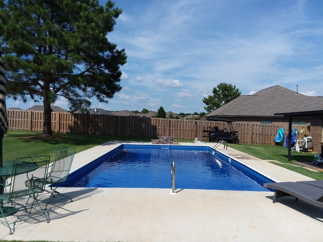Calera, AL - New swimming pool construction and liner replacements.