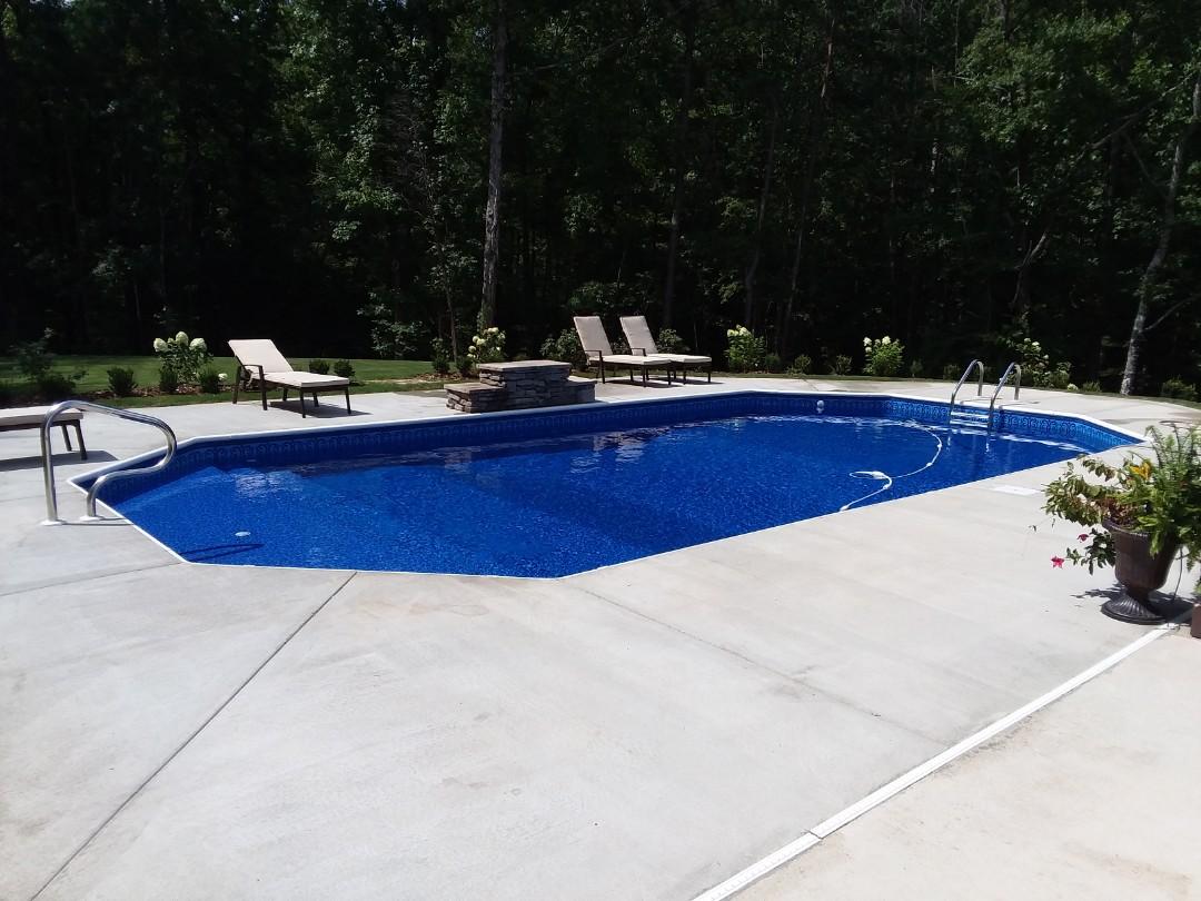 Opelika, AL - New swimming pool construction.