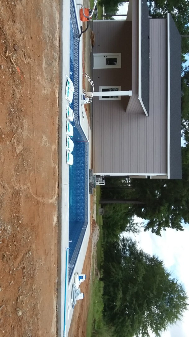 New swimming pool construction.