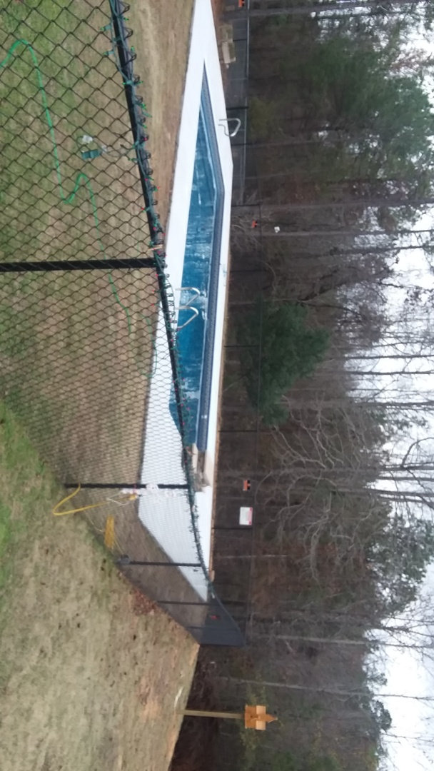 Tallassee, AL - New swimming pool construction.