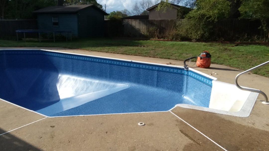 New swimming pool dealer and new swimming pool liner replacement.