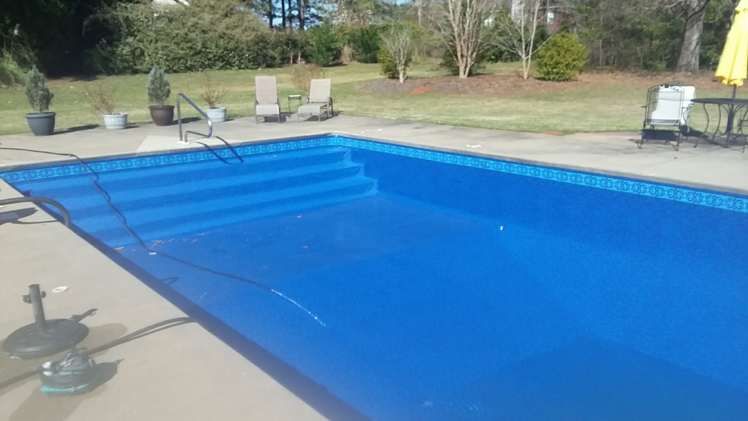 New pool liner replacement.