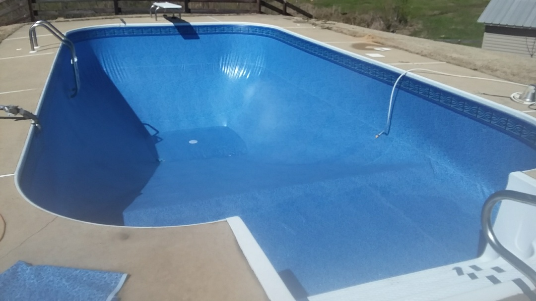 Swimming pool liner  replacement.