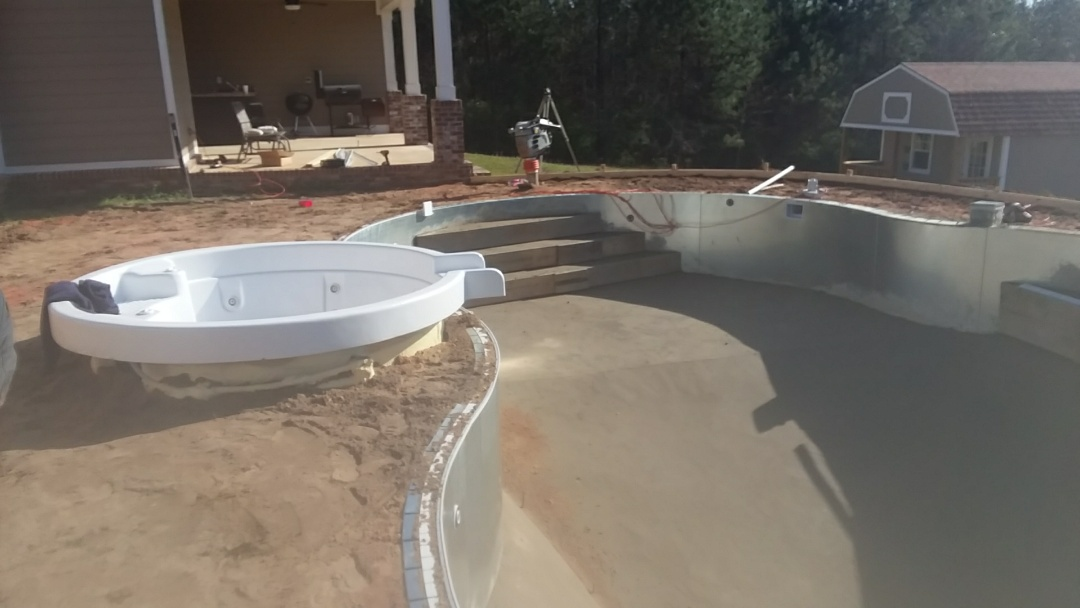 18x36 oasis pool installation.