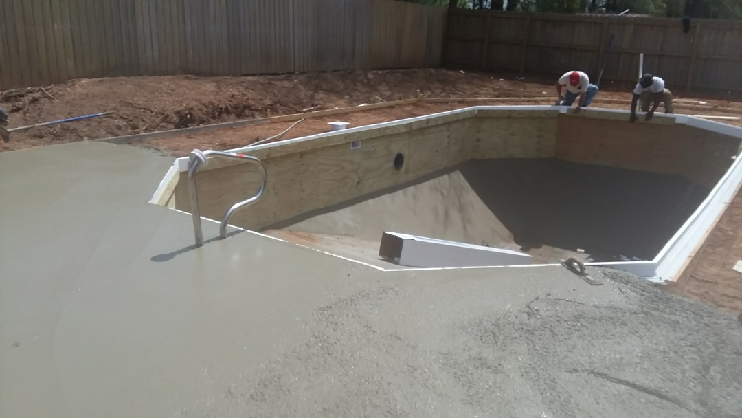 16x32  new swimming pool installation.