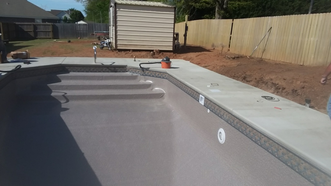 16x32 swimming pool installation.