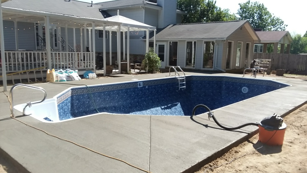 New 16x32 swimming pool installation.