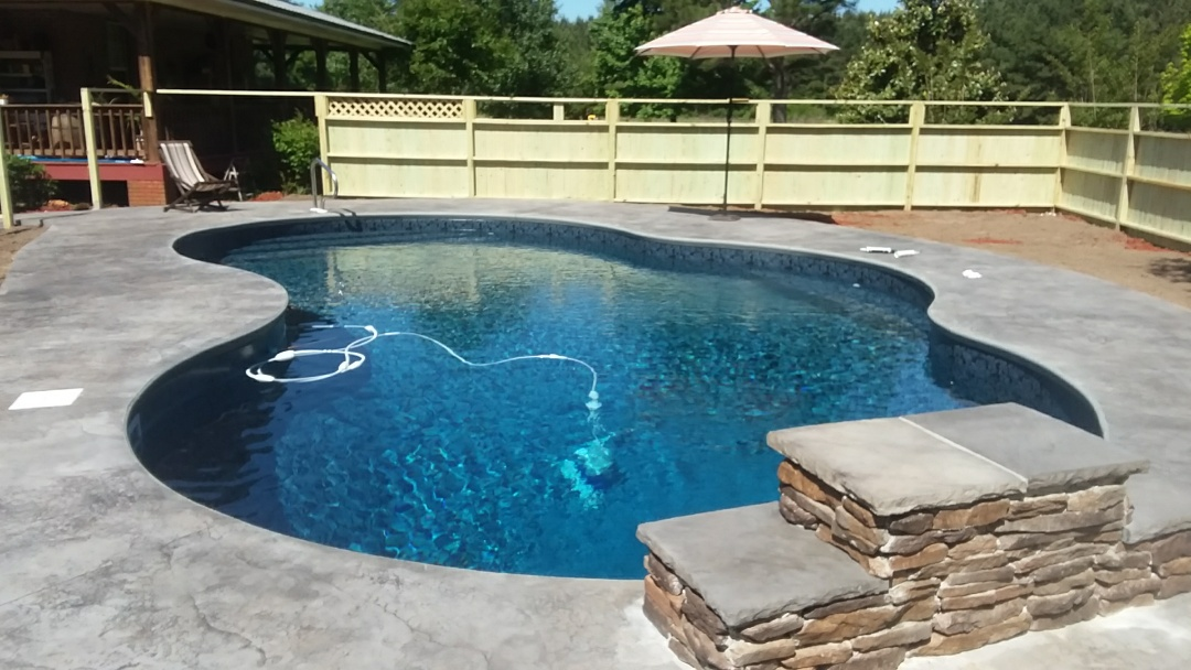 16x32 oasis pool installation.