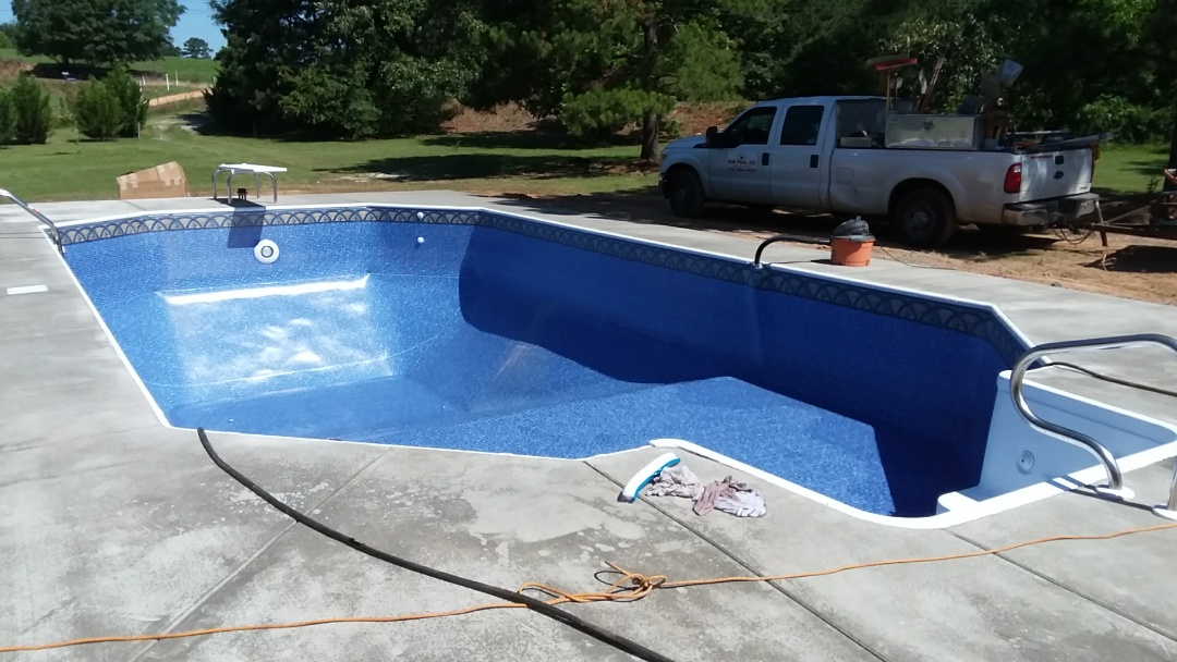 New 18x36 Grecian swimming pool installation.
