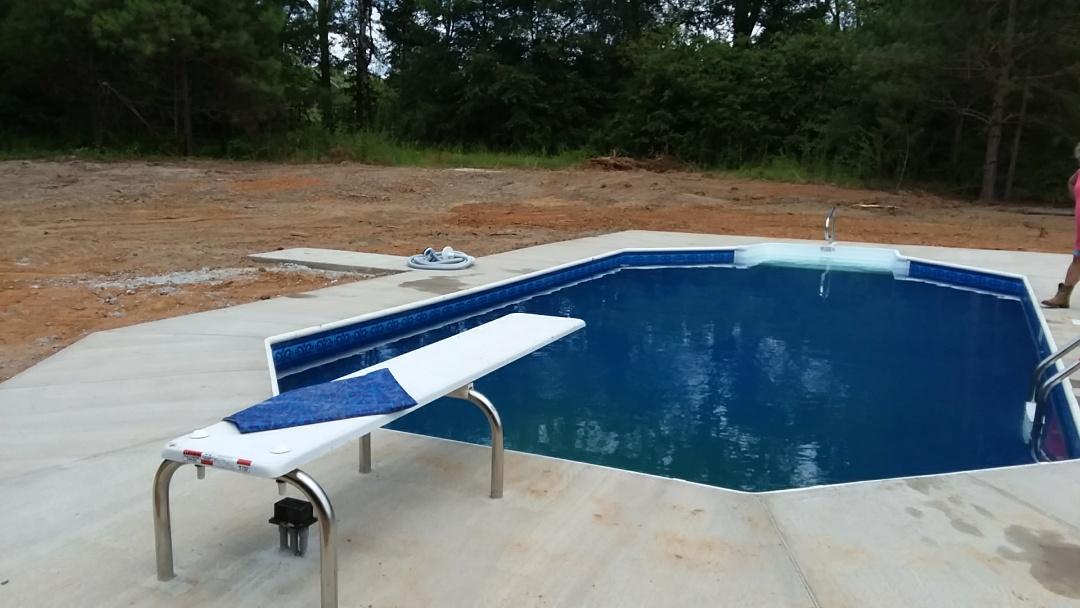 New 16x32 swimming pool installation.