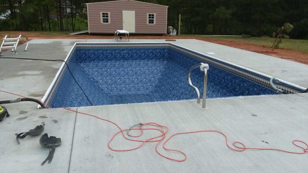 Tallassee, AL - New 16x32 swimming pool installation.