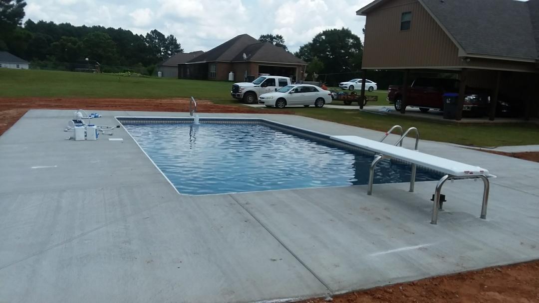 New 16x32 swimming pool installation