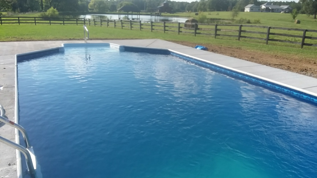 New 16x32 Grecian swimming pool installation.