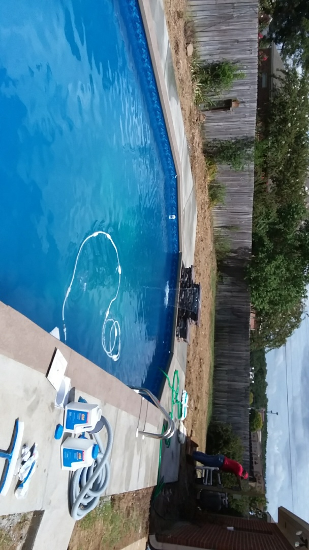 Tuscaloosa, AL - New 16x35 Grecian swimming pool installation with custom jump rock.