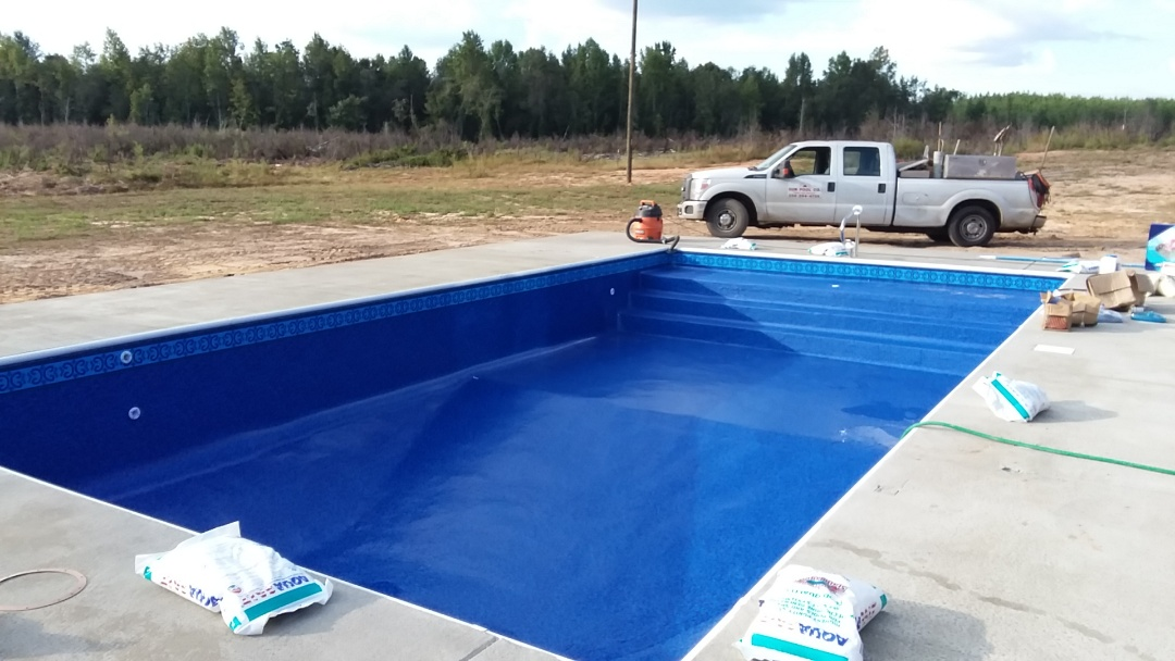New 18x36 rectangle swimming pool.